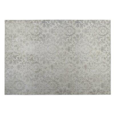 Beige/Gray Indoor/Outdoor Doormat Rug Size: 8 x 10