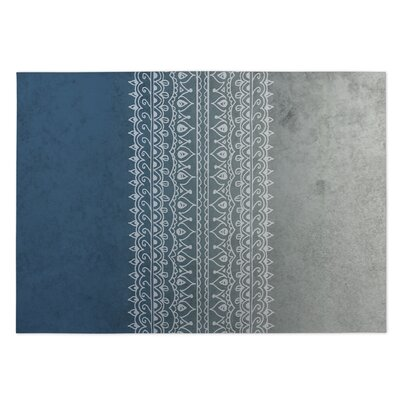 Apostrophe Blue/Gray Indoor/Outdoor Doormat Rug Size: 5 x 7