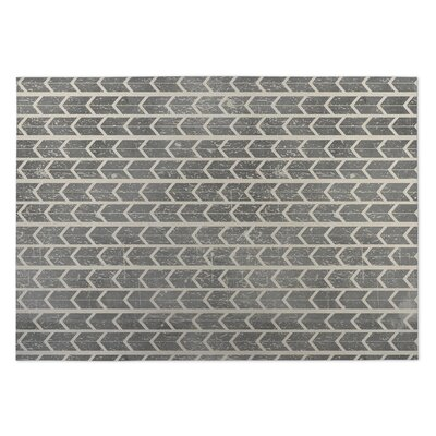 City Rain Beige/Gray Indoor/Outdoor Doormat Mat Size: Square 8