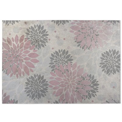 Bloom Pink/Gray Indoor/Outdoor Doormat Rug Size: 5 x 7