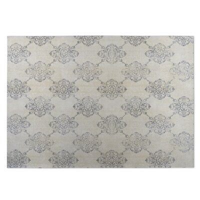 Old Damask Beige/Gray Indoor/Outdoor Doormat Rug Size: Rectangle 8' x 10'