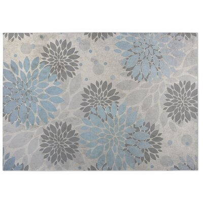 Bloom Blue/Gray Indoor/Outdoor Doormat Rug Size: 4 x 5