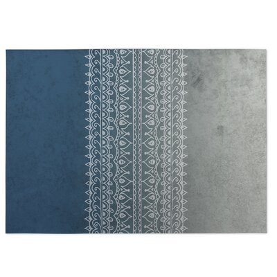 Apostrophe Blue/Gray Indoor/Outdoor Doormat Rug Size: Square 8