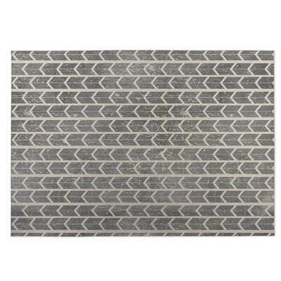 City Rain Beige/Gray Indoor/Outdoor Doormat Mat Size: Rectangle 5 x 7