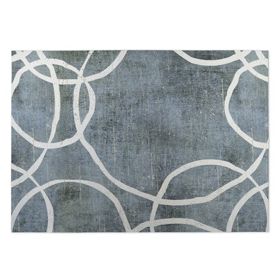 Gray Indoor/Outdoor Doormat Rug Size: 5 x 7