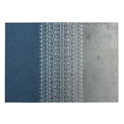 Apostrophe Blue/Gray Indoor/Outdoor Doormat Rug Size: 8 x 10