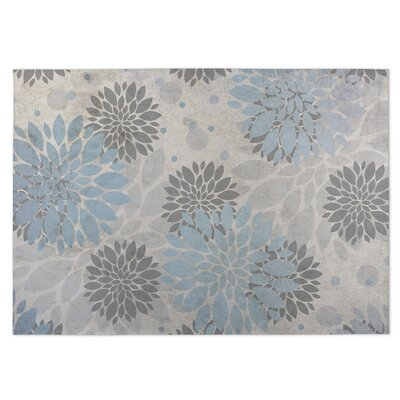 Bloom Blue/Gray Indoor/Outdoor Doormat Rug Size: 5 x 7