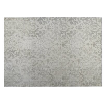 Beige/Gray Indoor/Outdoor Doormat Rug Size: Square 8