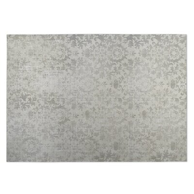 Beige/Gray Indoor/Outdoor Doormat Rug Size: 5 x 7