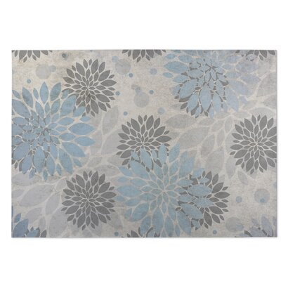 Bloom Blue/Gray Indoor/Outdoor Doormat Rug Size: 8 x 10