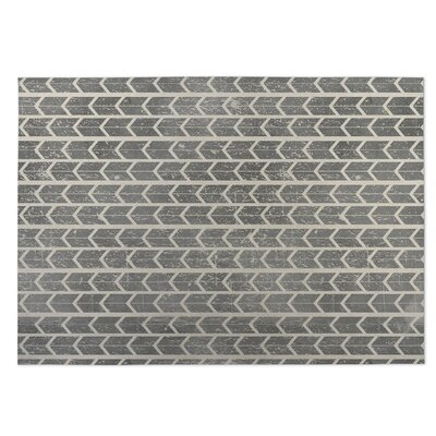 City Rain Beige/Gray Indoor/Outdoor Doormat Rug Size: 8 x 10