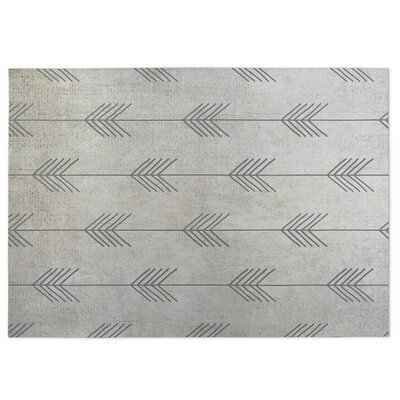 Afternoon Shower Gray Indoor/Outdoor Doormat Rug Size: 4 x 5