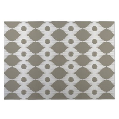 Forest Rain Gray/Beige Indoor/Outdoor Doormat Rug Size: 5 x 7