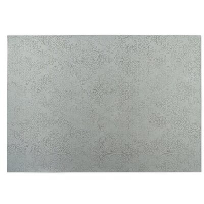 Gray Indoor/Outdoor Doormat Mat Size: Rectangle 5 x 7
