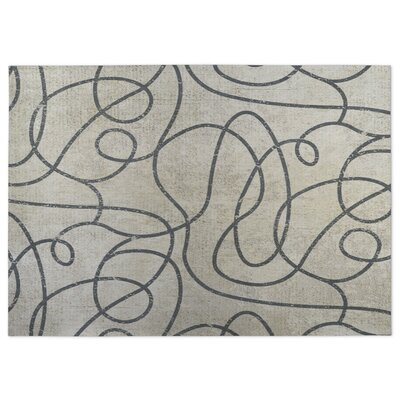 Connecting Vines Beige/Gray Indoor/Outdoor Doormat Rug Size: 5 x 7