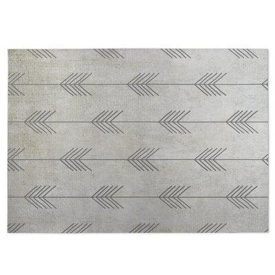Afternoon Shower Gray Indoor/Outdoor Doormat Rug Size: 8 x 10