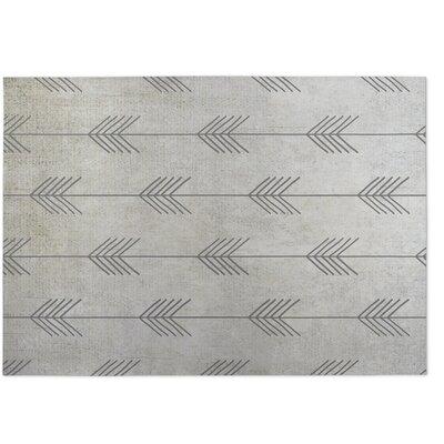 Afternoon Shower Gray Indoor/Outdoor Doormat Rug Size: 5 x 7