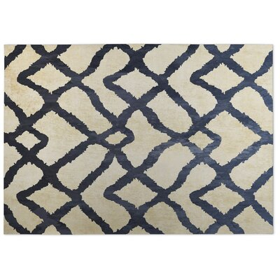 Beige/Blue Indoor/Outdoor Doormat Rug Size: 4 x 5