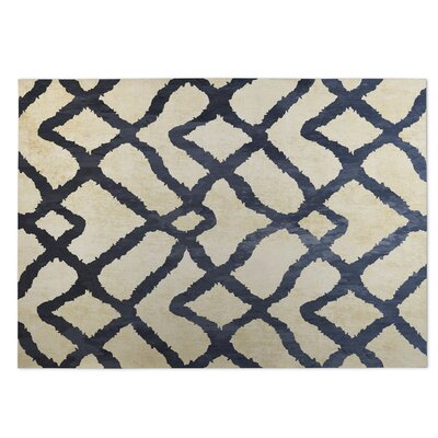 Beige/Blue Indoor/Outdoor Doormat Rug Size: 8 x 10