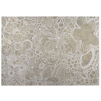 Expressions Indoor/Outdoor Doormat Color: Beige