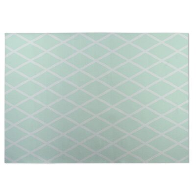 Lattice Work Indoor/Outdoor Doormat Color: Seafoam