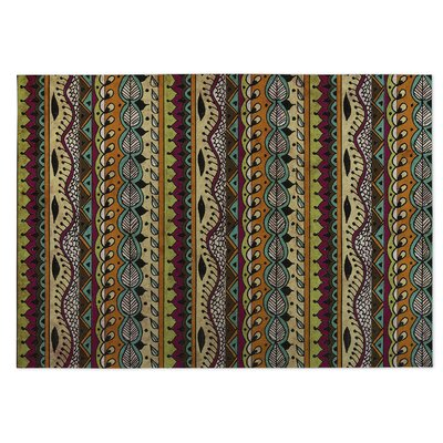 Feathers Indoor/Outdoor Doormat Color: Purple/ Blue/ Orange/ Tan