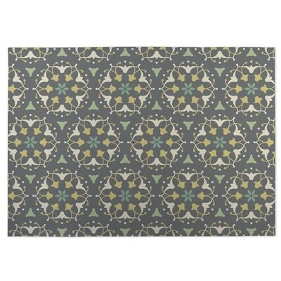 Kaleidoscope Indoor/Outdoor Doormat Color: Green