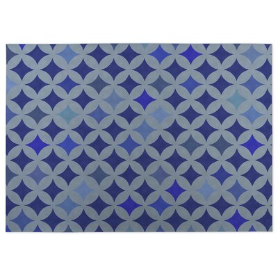 Diamond Nexus Indoor/Outdoor Doormat Color: Blue