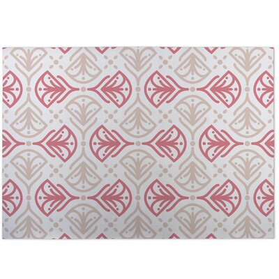 Kissing Tulips Indoor/Outdoor Doormat Color: Coral