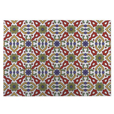 Kaleidoscope Indoor/Outdoor Doormat Color: Red/Green