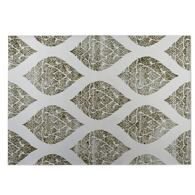 Fortney Damasks Indoor/Outdoor Doormat Color: Ivory/ Taupe