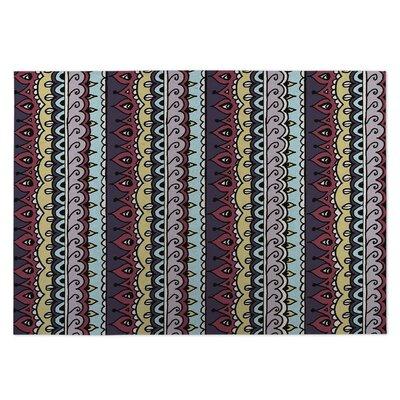Dimensions Indoor/Outdoor Doormat Color: Blue/ Purple/ Yellow/ Red