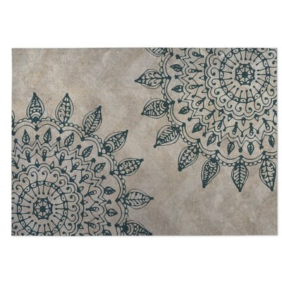 Elora Pinwheel Heena Indoor/Outdoor Doormat Color: Tan/ Green
