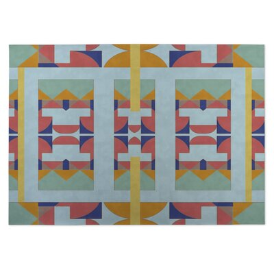 Deco Indoor/Outdoor Doormat Color: Blue/ Purple/ Orange/ Yellow