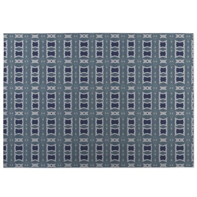 Crossroads Indoor/Outdoor Doormat Color: Blue