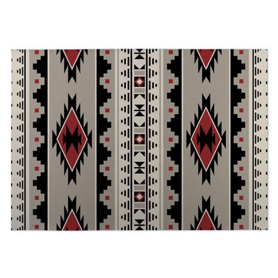 Navajo Indoor/Outdoor Doormat Color: Gray/Rust