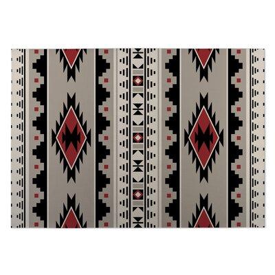 Indoor/Outdoor Doormat Color: Grey/ Red/ Black