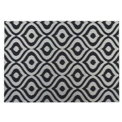 Ikat Ogee Indoor/Outdoor Doormat Color: Black