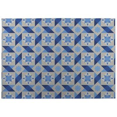 Diamond Tiles Indoor/Outdoor Doormat Color: Blue