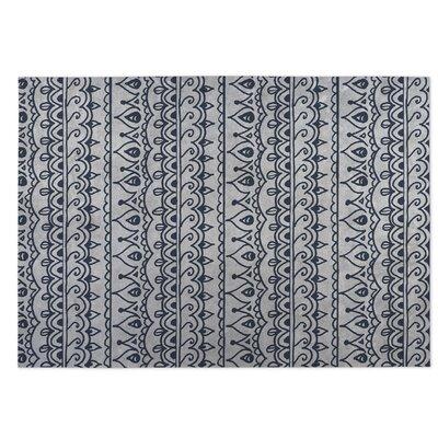 Dimensions Indoor/Outdoor Doormat Color: Gray/Blue