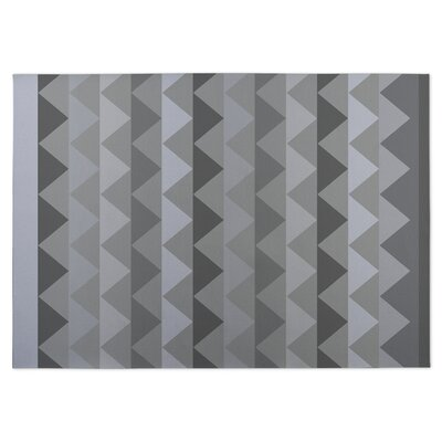 White Caps Indoor/Outdoor Doormat Color: Gray