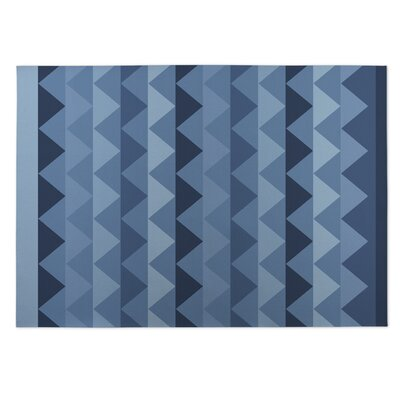 White Caps Indoor/Outdoor Doormat Color: Blue