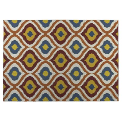 Ikat Ogee Indoor/Outdoor Doormat Color: Orange/Red