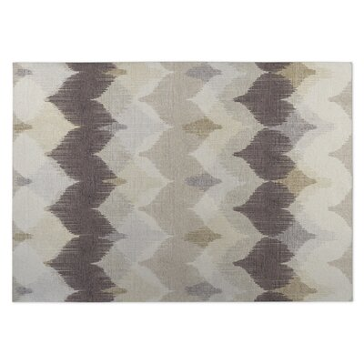 Chevron Motion Indoor/Outdoor Doormat Color: Ivory/ Tan/ Taupe