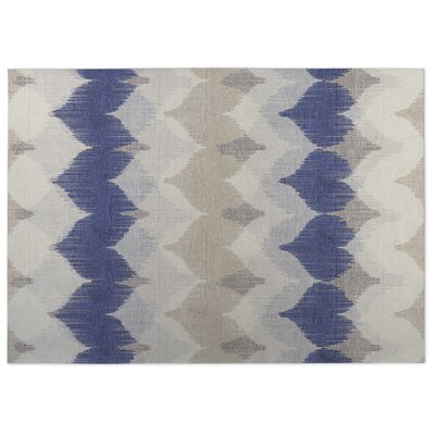 Chevron Motion Indoor/Outdoor Doormat Color: Ivory/ Tan/ Blue