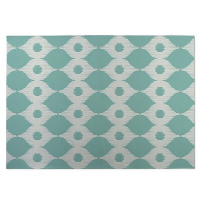 Forest Rain Indoor/Outdoor Doormat Color: Ivory/ Turquoise