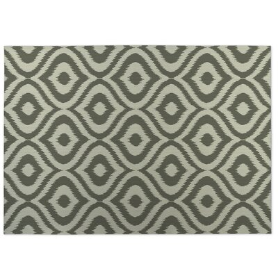 Ikat Ogee Indoor/Outdoor Doormat Color: Green/ Ivory
