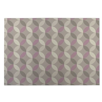 Diamond Nexus Indoor/Outdoor Doormat Color: Ivory/ Pink/ Grey