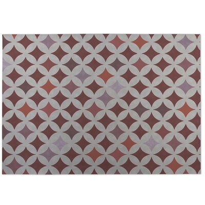 Diamond Nexus Indoor/Outdoor Doormat Color: Rust