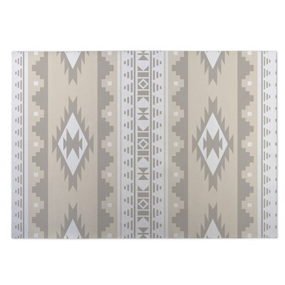 Navajo Indoor/Outdoor Doormat Color: Tan